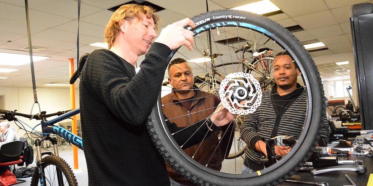WerkRaat: CycleHub Leerwerkplekken Fietsenmaken