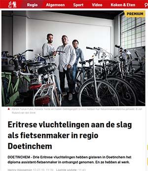 WerkRaat: diploma uitreiking fietswerkplaats op 11-juni-2019